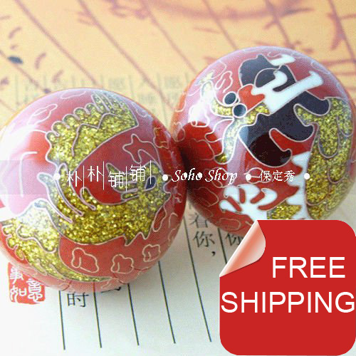 50mm 건강 운동 스트레스 볼, 다양한 색상의 중국 전통 용 및 피닉스, 페이드리스. 빨간 종이 상자. 무료 배송.