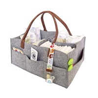Foldable Felt Storage Bag Diaper Caddy Organizing Children Toys Tote Organizer