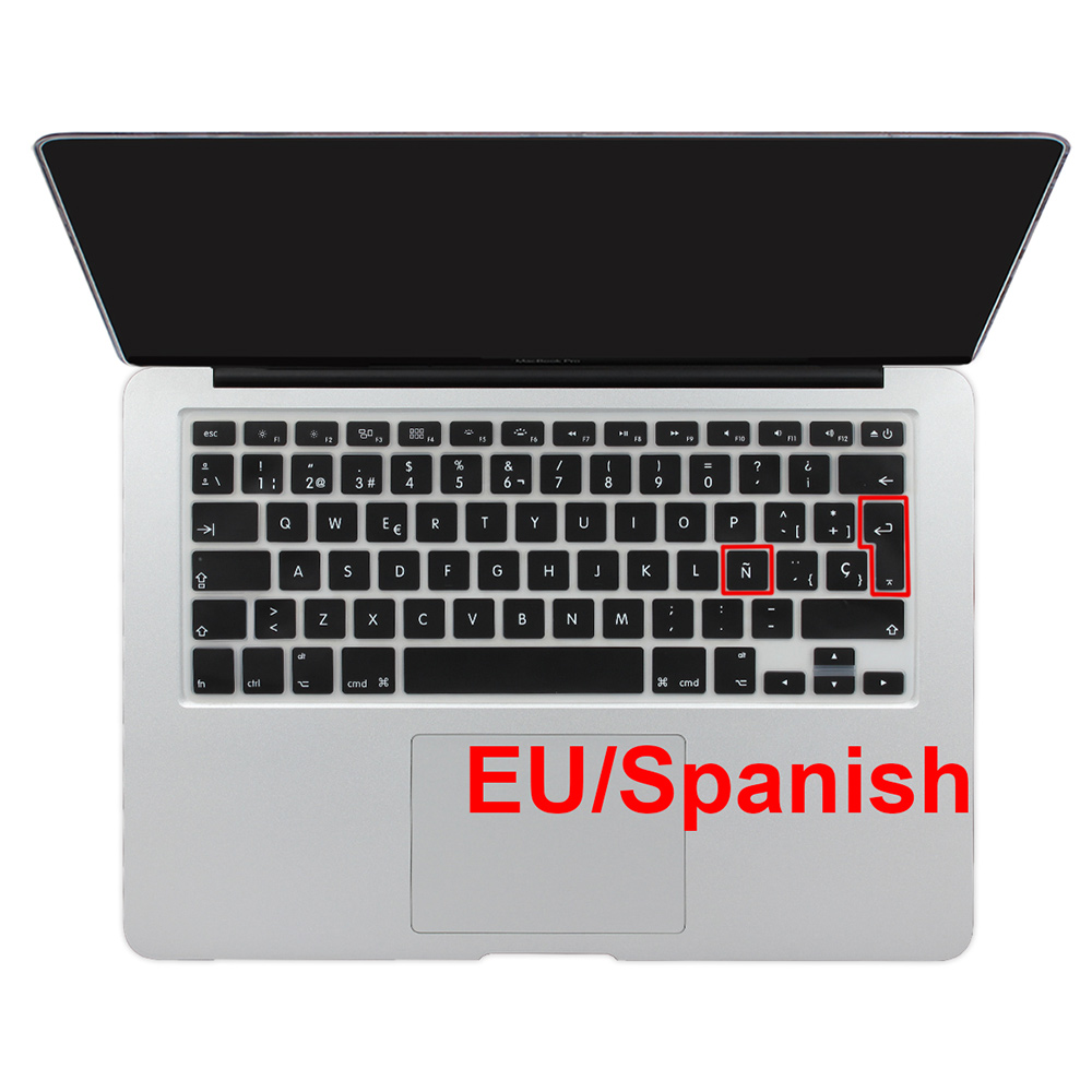 For Macbook Pro 13 15 17 Retina Keyboard Cover Sticker Air 13 inch EU Euro Spanish Chile