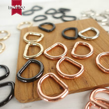 DIY for Dog Collar 2.0cm D ring Connection alloy metal Buckles DIY Semi Ring Webbing Clasp Clip D Shaped Clasp 5 colors(China)