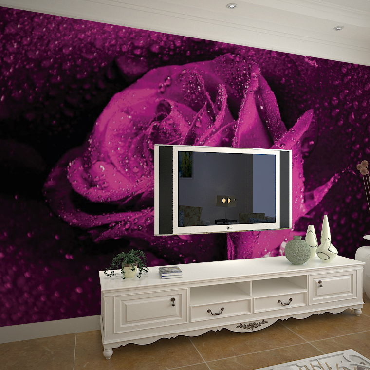 Large 3d wallpaper mural wall entrance hallway bedroom - What size tv to get for living room ...