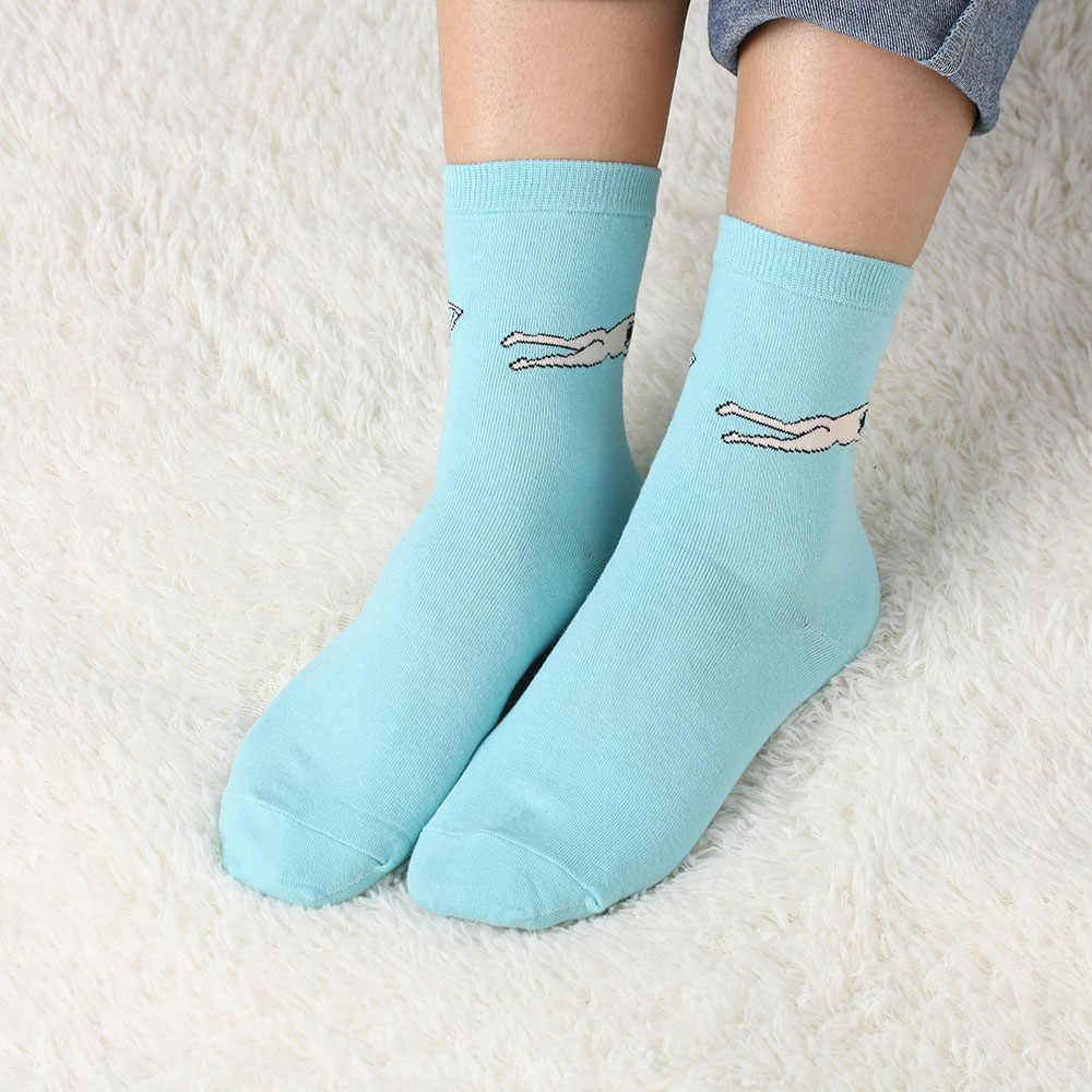 1 Pair Fashion Cute Women Girls Harajuku Candy Color Casual Cute Cartoon Cotton Warm  Socks