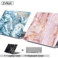 Housse d'ordinateur portable en marbre pour APPle MacBook Pro Air Retina 11 12 13 15 Mac Book 15.4 13.3 pouces housse de coque de barre tactile + housse de clavier