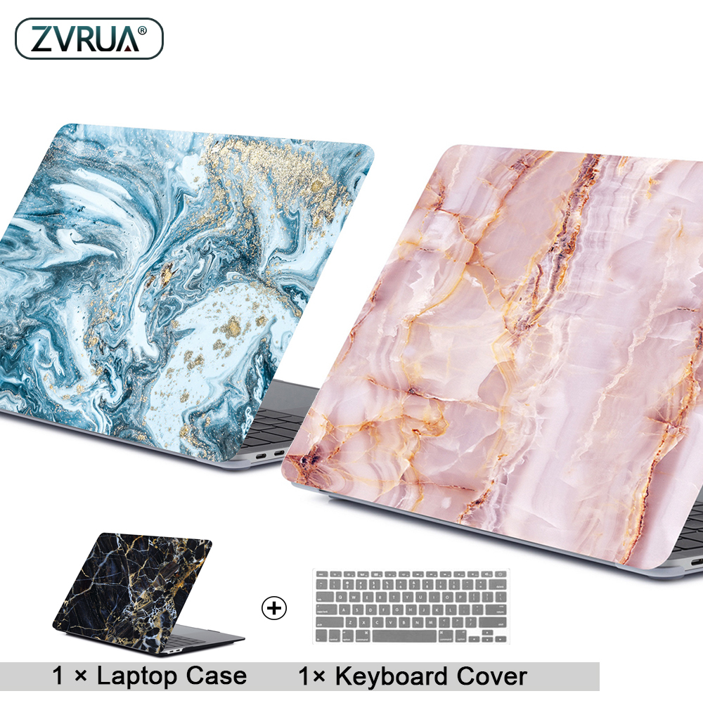 Marble Laptop Case For APPle MacBook Pro Air Retina 11 12 13 15 Mac Book 15.4 13.3 Inch Touch Bar Shell Sleeve + Keypad Cover image
