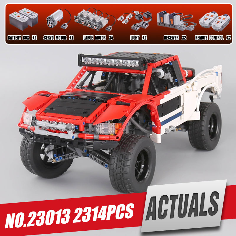 Lepin 23013 Genuine 2314Pcs Technic Series The Remote-Control Off-road Car Set Building Blocks Bricks legoing Toys As Kids Gifts цена