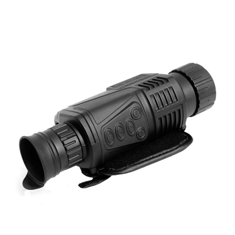 5X40mm Infrared Night Vision Monocular 200m Built-in Camera Digital Telescope for Hunting цена