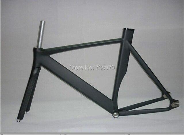 700C road bike frame 12K carbon fiber fix gear frame fork track ...