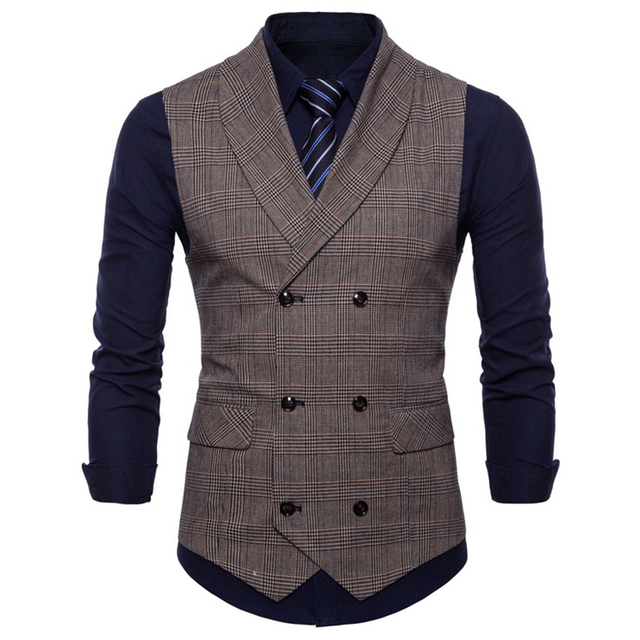 Spring Business Vest Men's Clothing Male Autumn Jacket Casual Men England Suit Vest With Pockets Vest Outerwear Chaleco Hombre