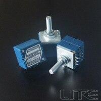 1PC 27-Type Potentiometer Japan ALPS Volume Potentiometer 10KAX2/ 20KAX2/ 50KAX2/ 100KAX2 - Round Shaft