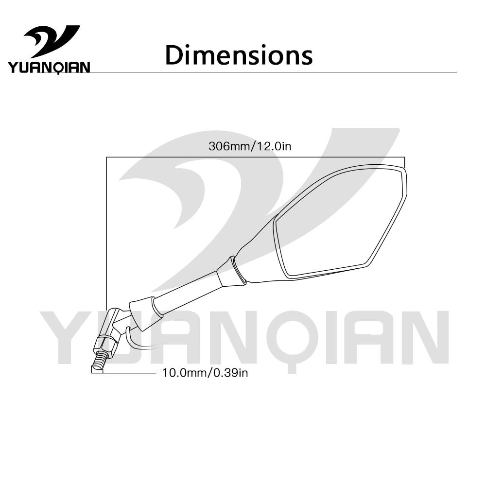 Universal motorcyle ABS plastic Aluminum Mirror Motorbike Side rearview mirror For Honda VFR NC 700 1200 F VFR750 VFR800 VFR1200
