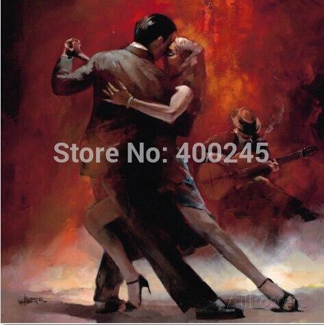 Картина с изображением любви Танго Argentino от Willem Haenraets картина маслом на холсте портретное искусство пара танцовщиц ручная роспись