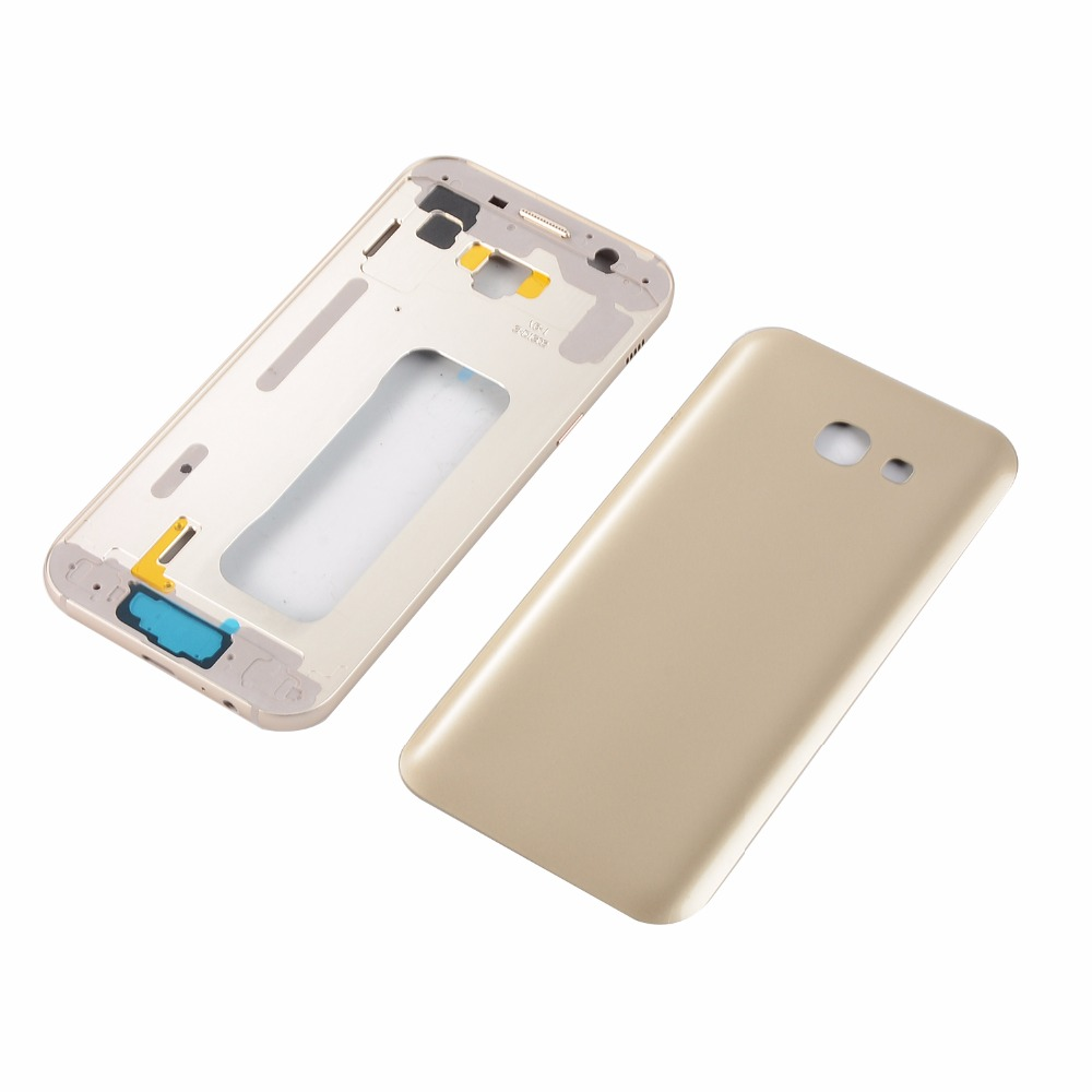 For Samsung Galaxy A5 2017 SM-A520F A520 Metal Lcd Middle Frame Housing +Power On Off Side Button+Battery Back Glass Cover