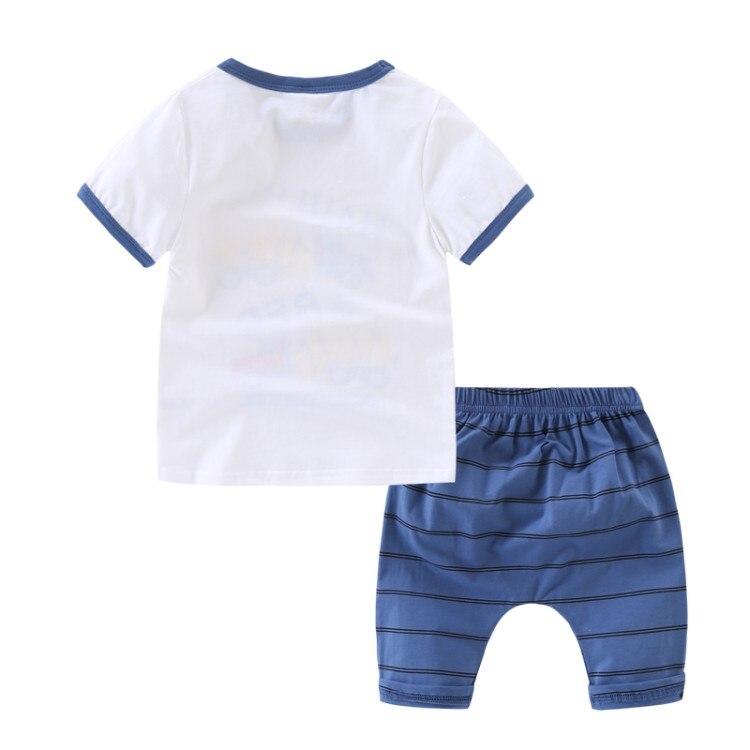 2018 Baby Clothes Boys Clothing Sets Summer Cartoon Tops Shorts 2 Pieces Set Boy Cotton Kids Suit Cute Children Clothing 3cs381