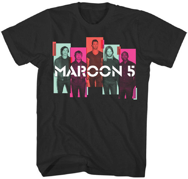 MAROON 5 - Photo Blocks - T SHIRT S-M-L-XL-2XL Brand New Official T Shirt Print Tee Men Short Sleeve Clothing TOP TEE