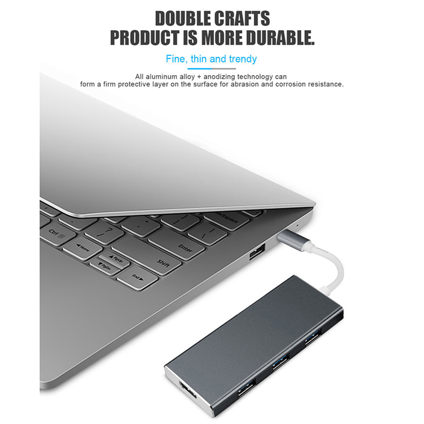 7 in 1 USB-C USB C Hub with Type-C Power Delivery 4K Video HD SD/TF Card Reader USB 3.0 HUB For MacBook Pro Type C Hub7 in 1 USB-C USB C Hub with Type-C Power Delivery 4K Video HD SD/TF Card Reader USB 3.0 HUB For MacBook Pro Type C Hub
