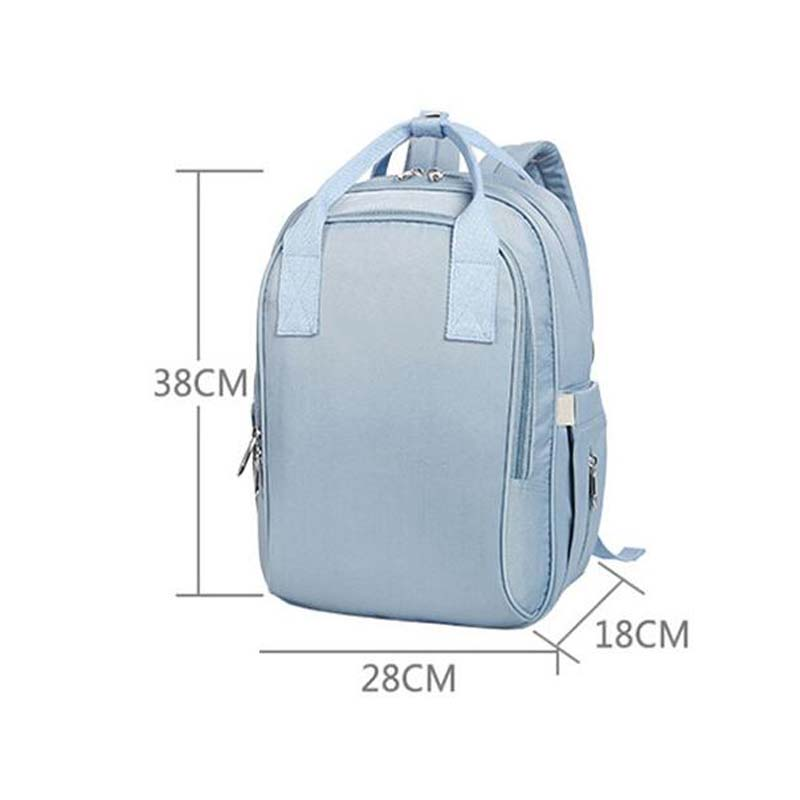 Simple fashion solid color pregnant women baby care cart bag large capacity diaper bag multi-function waterproof travel backpack