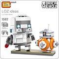 Ladrillos loz headz mini imperial stormtrooper acción figura bb-8 bloque de star wars bloques de construcción de juguete los niños modelo lindo muñecas 1502