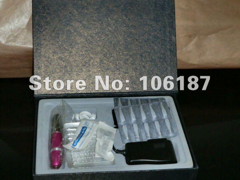 ФОТО Best Permanent Cosmetic set Tattoo Eyebrow Makeup Pen Machine kit free shipping PK-001