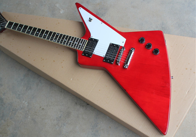 firehawk Red & black custom shop explorer guitar electric guitar chrome hardware 16704 esp custom shop sun flames inlay james hetfield jh2 signature guitar ken lawrence explorer electric guitar