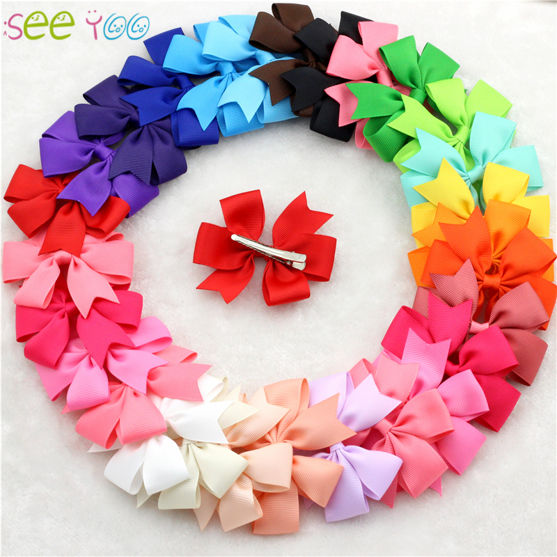 Ribbon Bow for Hair (3.15Inches)Baby Girls accessories for hair Children Hair clip Cute Hairpins Bebes arco de cabelo 30pcs baby cute style children accessories hairpins rabbit fur ear kids girls barrette lovely hair clip