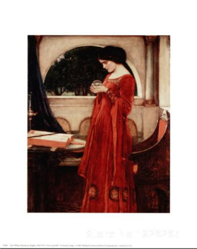 wall art modern The Crystal Ball John William Waterhouse Paintings Hand painted High quality