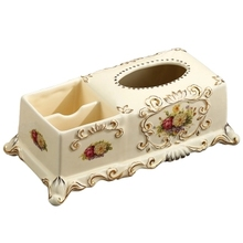 Luxury fashion ceramic tissue box decoration multifunctional pumping paper mobile phone remote control storage