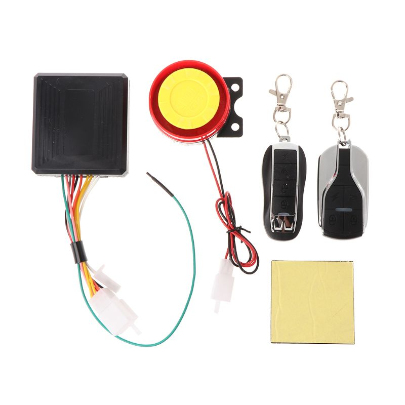 12V Motorcycle Bike Anti-theft Security Alarm System Remote Control Engine Start