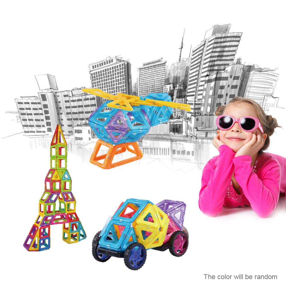 158 шт. магнитная здания 3д конструкторы магнитный конструктор здания наборы магнитная конструкция модели развивающие игрушечные лошадки для детей подарок