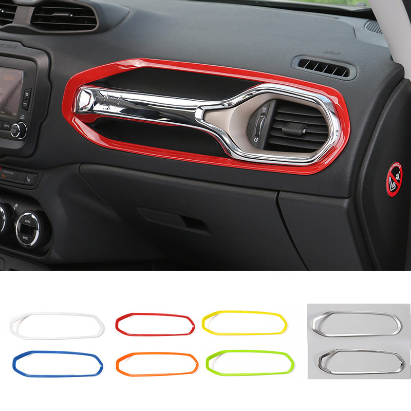 MOPAI ABS Car Interior Copilot Seat Grab Handle Cover Trim Decoration Stickers For Jeep Renegade 2015 Up Car Styling цена и фото