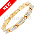 Channah 2017 Ladies Magnetic 2-Tone Silver Gold Bracelet Female Link Chain Golden Bangle Women Jewelry Gift Free Shipping Charm