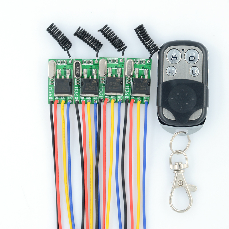 DC6V-36V 6V 7.4 8.4V 7.6V 9V 12V 24V 16V 28V 36V Car Bus Truck Train Power Remote Control Switches 315Mhz Mos Receiver No Sound dc6v 36v 12v 24v 16v 28v 36v car bus truck train wireless remote control switches 315mhz mos receiver no sound with transmitter