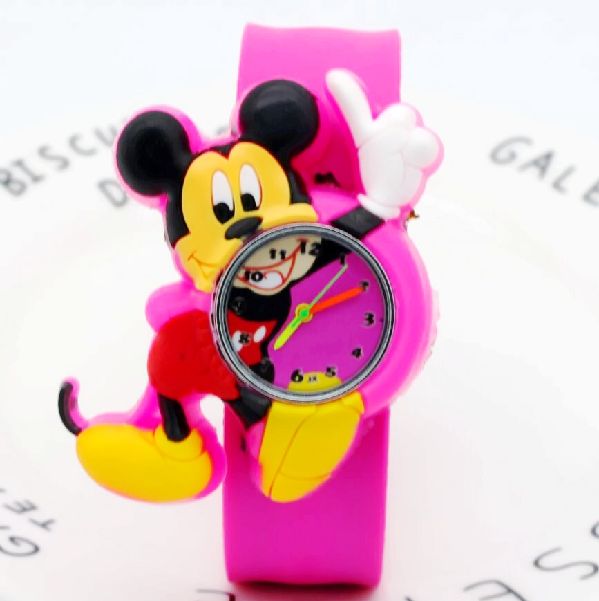 New Fashion Cool Hello Kitty Mickey Cartoon Watch For Children Girls Slap Quartz Watches For Kids Boys Christmas Gift Wristwatch Special Summer Sale Watches