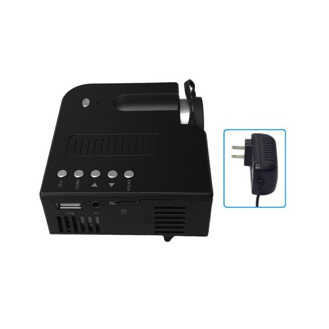 Big Promo  UC28A+ Home Projector Mini Miniature Portable 1080P HD Projection Mini LED Projector For Home Theater Entertainment US Plug