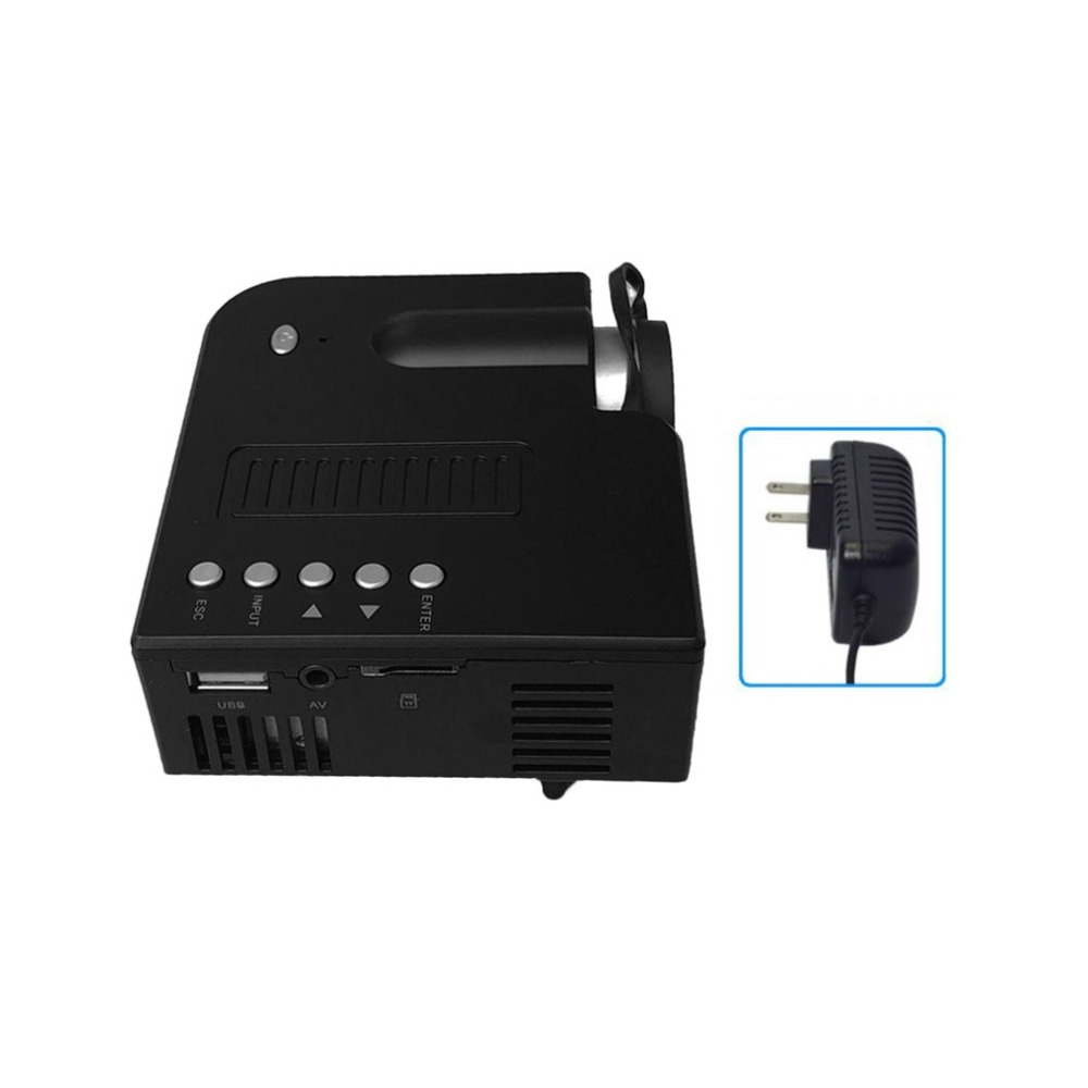 UC28A+ Home Projector Mini Miniature Portable 1080P HD Projection Mini LED Projector For Home Theater Entertainment US Plug