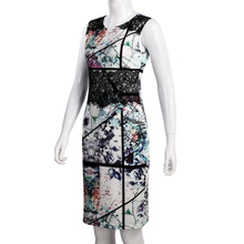 Women Dress Vestidos Summer Designer Elegant Floral Print Work Business Casual Party Pencil Sheath Sleeveless Slim Dress