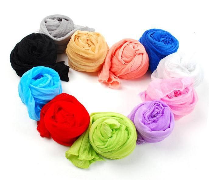 60 inch Women Girls' Candy Colors Long Soft Silk   Scarf     Wrap   Shawl Stole Ultrathin Tie-in Dress