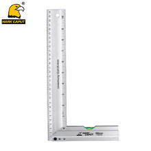 90 Degree Angle Ruler Aluminum Alloy Square Marking Gauge Protractor With Bubble Level For Carpenter Measuring Tools