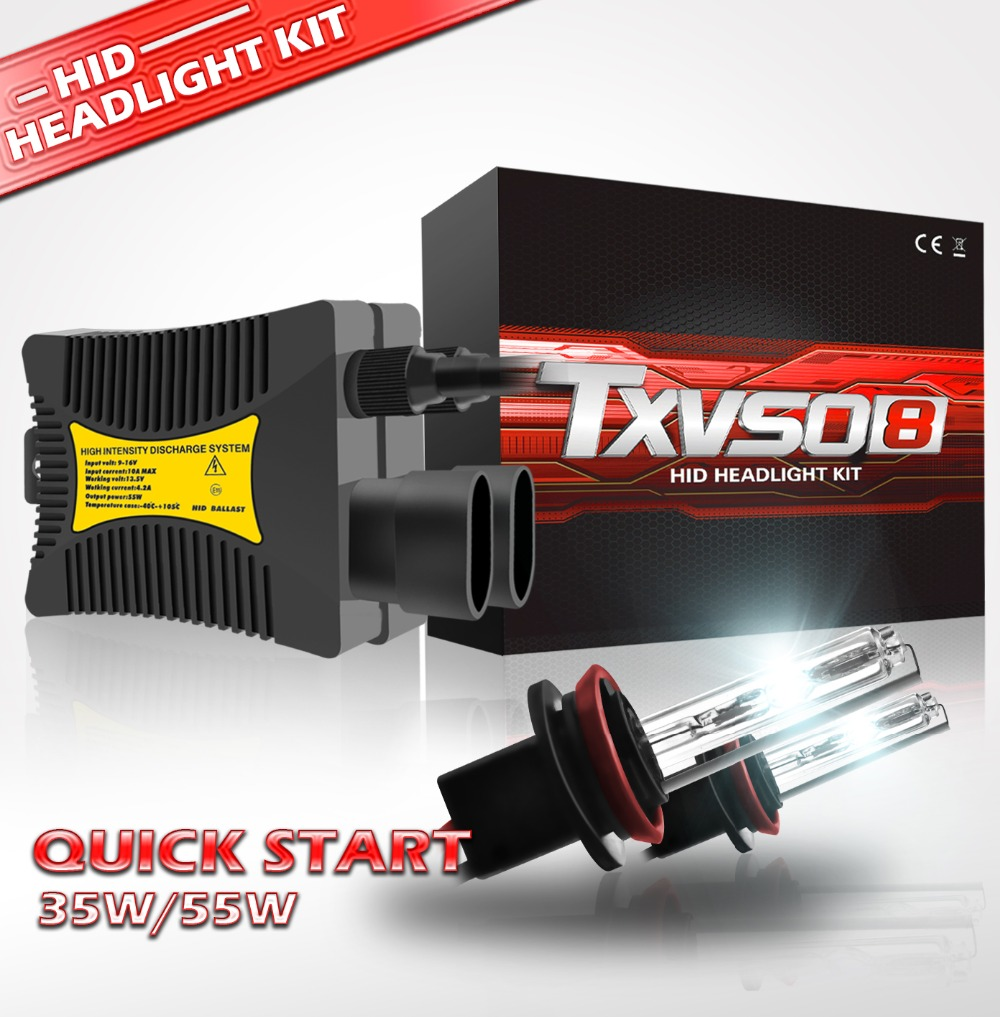 2PCS 12V 55W HID <font><b>Xenon</b></font> Headlight Conversion <font><b>KIT</b></font> Bulbs H1 H3 <font><b>H4</b></font> H7 H11 9005 9006 880/881 3000K 4300K 6000K 8000K <font><b>10000K</b></font> 12000K image