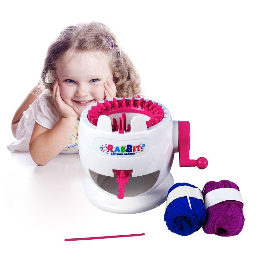 ≧Conejo Niño máquina de tejer niño Hilado máquina punto chica ...