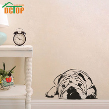 Hot Sale Vinyl Art Wall Decals Living Room Home Decor Lazy Bulldog Sticker Nursery