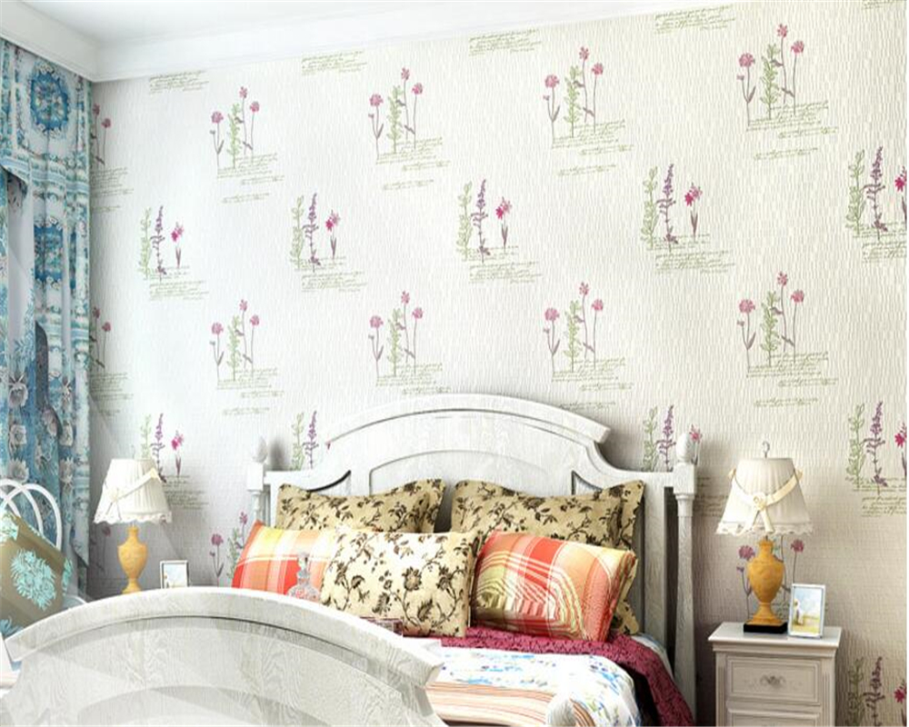 beibehang tapety Warm Pastoral Nonwovens 3D Stereo Wallpaper Fashion Modern Romantic Backdrop Wall papel de parede 3d wallpaper beibehang pastoral nonwovens fashion