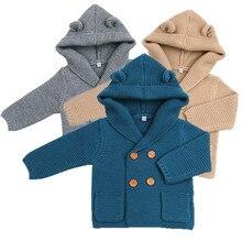 New Autumn Winter Sweaters font b Baby b font Boys Girls Cartoon Cardigan Ears Clothing Newborn