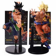 23cm Cartoon Anime Dragon Ball Z Resurrection F Super Saiyan Son Gokou Bardock PVC Action Figure Collectible Model Doll Toy цена