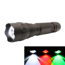 купить LED Mini Flashlight Zoomable CREE XML L2 Flashlight Torch 1000 Lumens Lamp Red Green Light for Reading/Holiday по цене 989.97 рублей