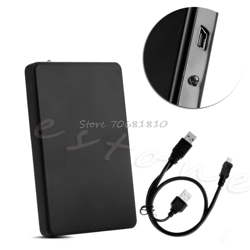 USB 2.0 Hard Drive External Enclosure 2.5inch SATA HDD Mobile Disk Box Case – Drop Shipping