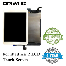 New Arrival Assembly Replacement For iPad 6 Air 2 LCD Touch Screen Display Digitizer Glass without Homebutton and Glue