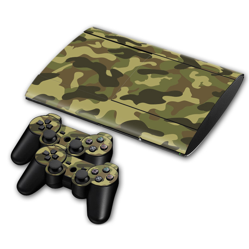 Skin Decal Wrap For PS3 Super slim 4000 Original Gaming Console 2ControllerS