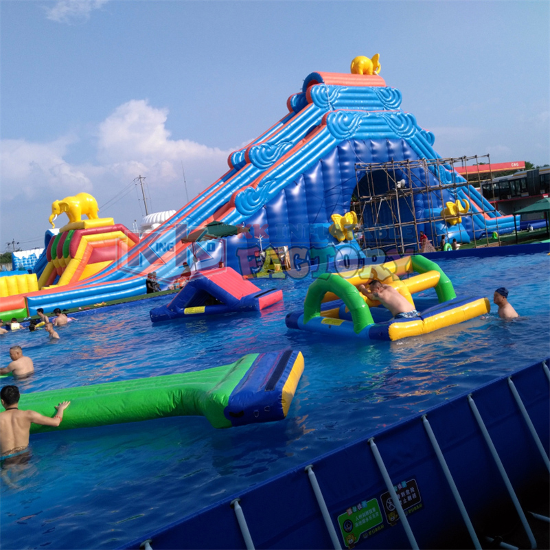 Large Number Of Products For Sale Children's Water Park Inflatable Slide