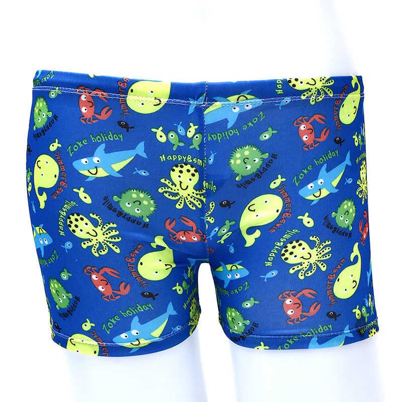 Dzieci spodenki do pływania dla dzieci chłopiec pływanie Cartoon strój kąpielowy dla dzieci maluch plaża stroje kąpielowe szorty basen