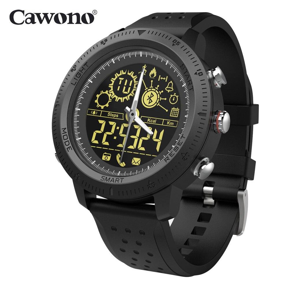 Cawono CW22 Intelligente Orologio Quadrante Luminoso Impermeabile 5ATM Pedometro Lungo Standby Sport Commerciale Smartwatch Per IOS Android Phone